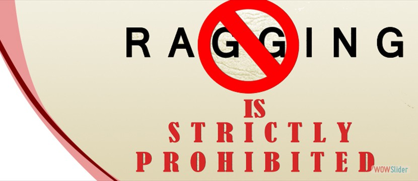 Ragging is prohibited